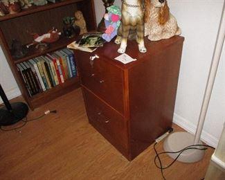 Teak filing cabinet