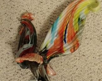Glass Art Rooster
