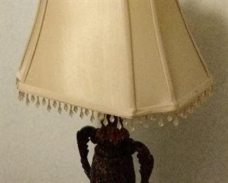 Small Vintage Table Lamp with decorative shade