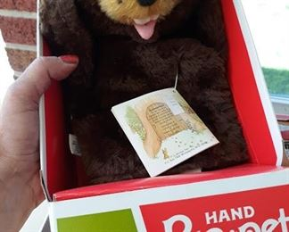 Vintage Bear Puppet