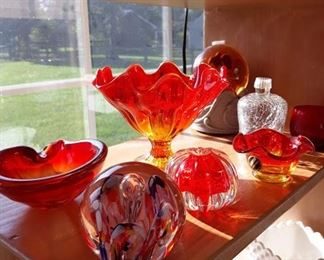Amberina Glass & Paperweights