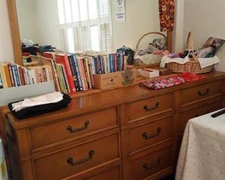 Vintage Large Dresser with Mirror - Part of 5 pc set
