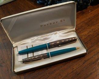 Vintage Parker 61 Pen & Pencil Set