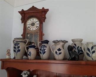 Antique Clock / Williamsburg & Pigeon Forge Pottery