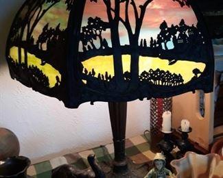 6 Panel Slag Lamp