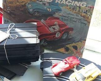 Strombecker Slot Car Track & Extra Cars