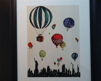 Etsy  Hot Air Balloon framed print