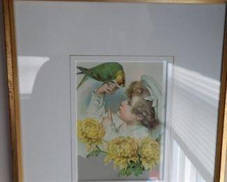 Enchanting framed child's print