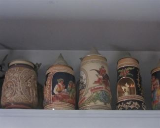 Collection of Avon Collectors Beer Steins