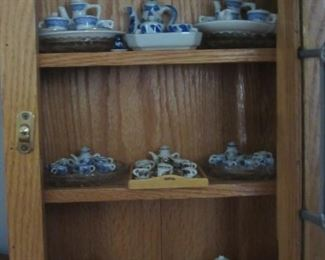 Collection of miniature china tea sets