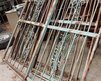 Beautiful antique cast iron fencing