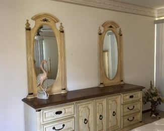 Hollywood Regency Dresser and Mirrors