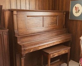 Antique Player Piano with original ivory keys