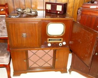 Vintage Motorola Television and Record Player