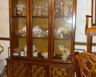 Walnut Finish China Cabinet