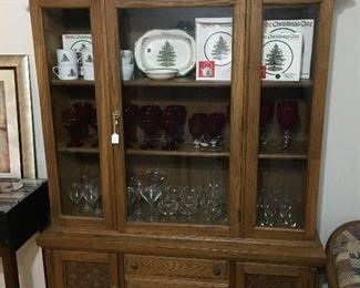Hutch, Spode Christmas dishes