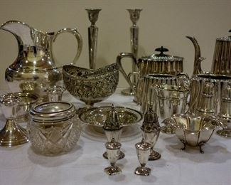 Variety of beautiful silver pieces, plus some not shown here. Silent Auction.