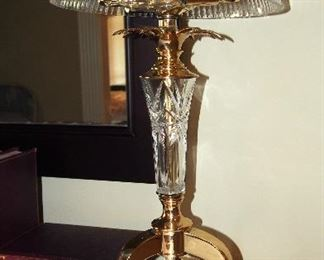 Gorgeous Crystal and Brass Table Lamp