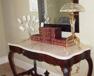 Fine Antique Marble Top Table