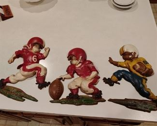 Vintage Football Wall Plaques