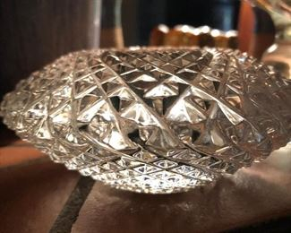 Cut glass votive