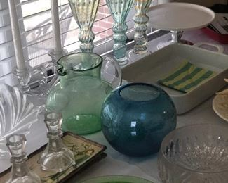 McCoy Pottery, glassware and Brad's items