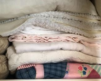 Lots of well kept linens