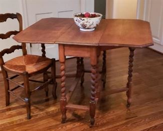BARLEY TWIST TABLE AND CHAIRS