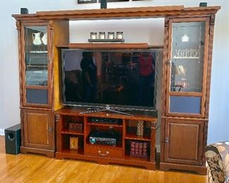 Expandable TV wall unit - Center cabinet will be sold separately (TV not for sale)