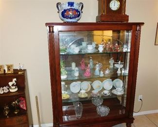 large display cabinet with sliding front door