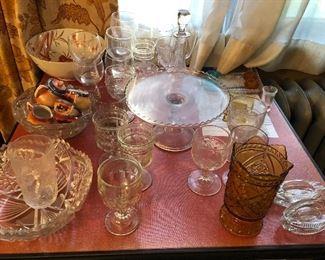 antique and vintage glassware