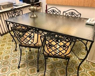 Vintage outdoor table and chairs set