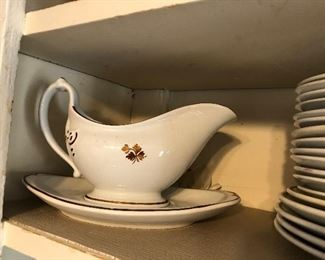 Tea Leaf ironstone gravy boat and underplate