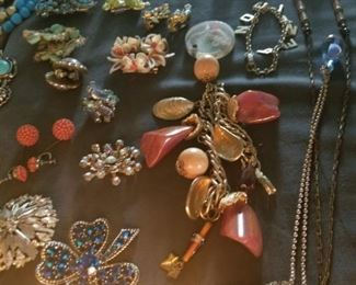Vintage and new costume jewelry