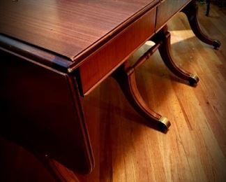 vintage mahogany extension drop-leaf dining table