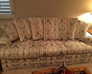 2 matching couches:  1 couch and 1 queen size sleeper sofa - asking $600 for the set, reasonable offer will be considered and set can be split.