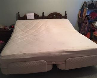 King adjustable bed with massage, 2 remotes and 3 very thick mattress covers - $1800