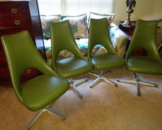 These are 4 funky chairs!!  They swivel and are super comfy!