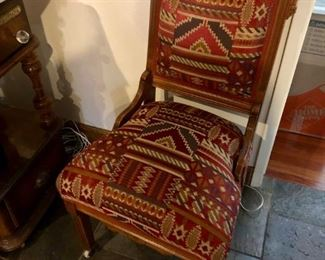 Eastlake Furniture upholstered in tribal print material