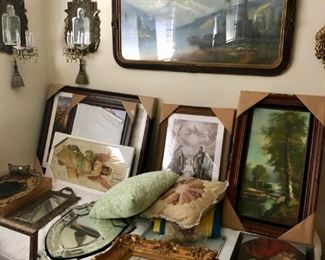 Landscape art, portraits, statues, decode