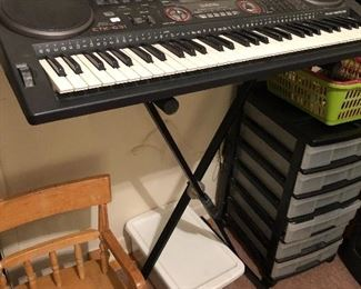 Electric keyboard, kid's rocking chair