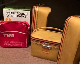 Set of Amelia Earhart luggage.