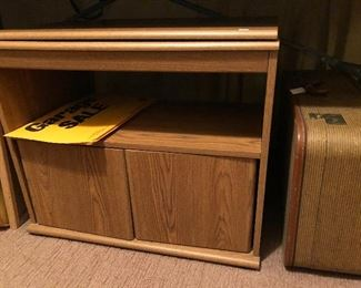 TV/microwave stand with storage.