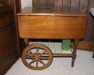 Tea/bar cart.
