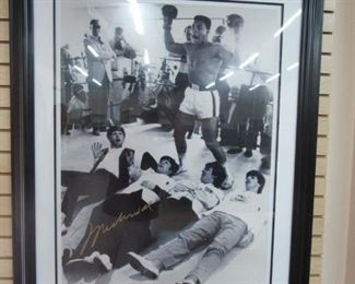 The Beatles w/ Muhammed Ali Photo 29x39""