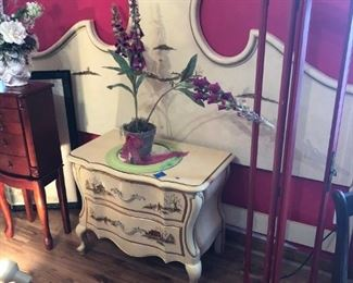 King headboard and end table
