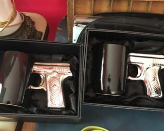 Coffee mugs with gun handles