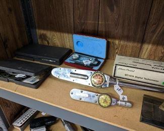 Telescoping guages,Vintage Torque Meters, Mitutoyo Micrometers,