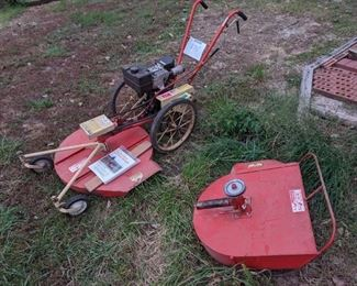 DR- Field and Bruch 8hp mower with two decks