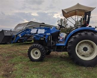 New HollandTC35 Tractor with implements